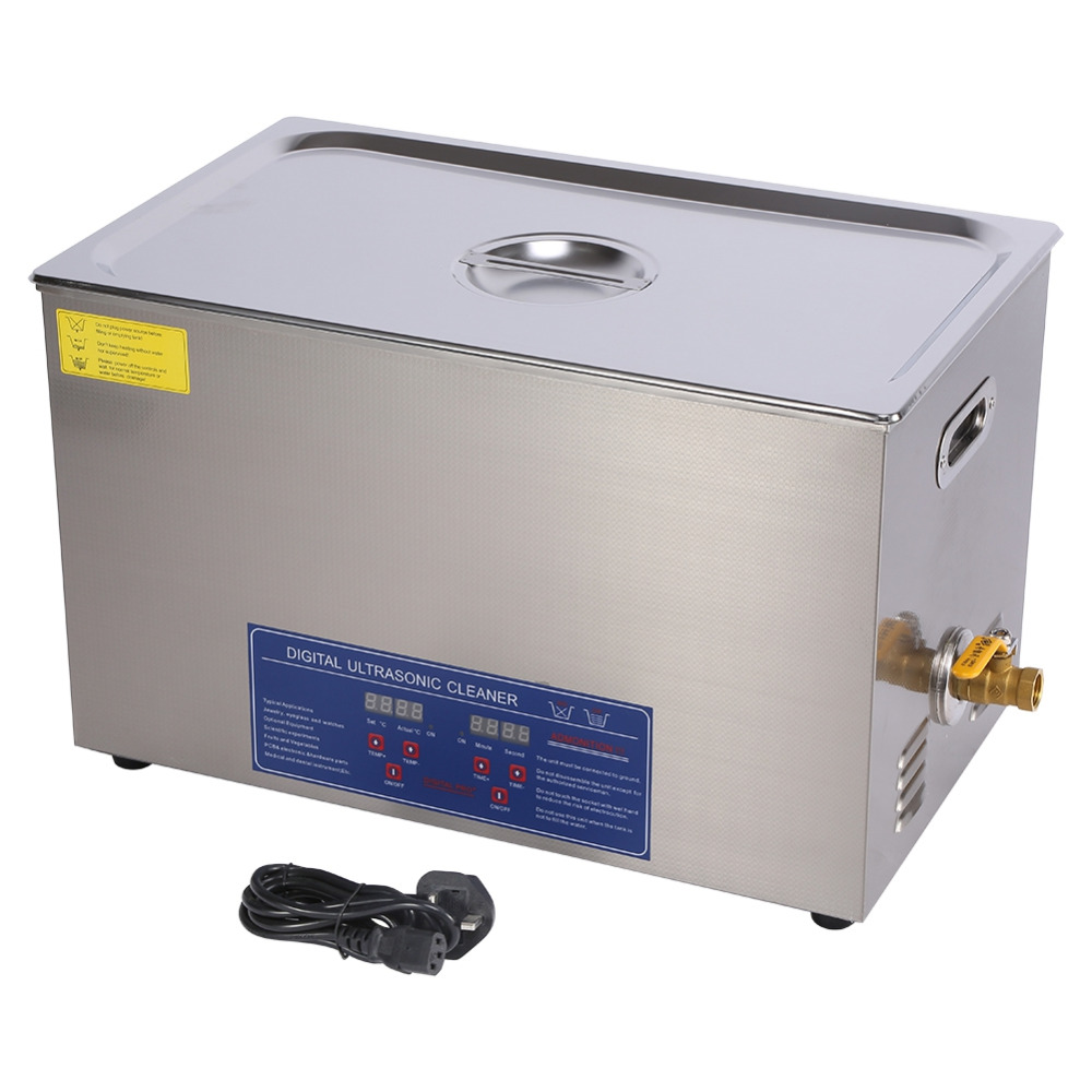 600W 30L Protable Stainless Steel Digital Ultrasonic Cleaner Ultra Sonic Cleaning Machine Heated Local Fast Shipping