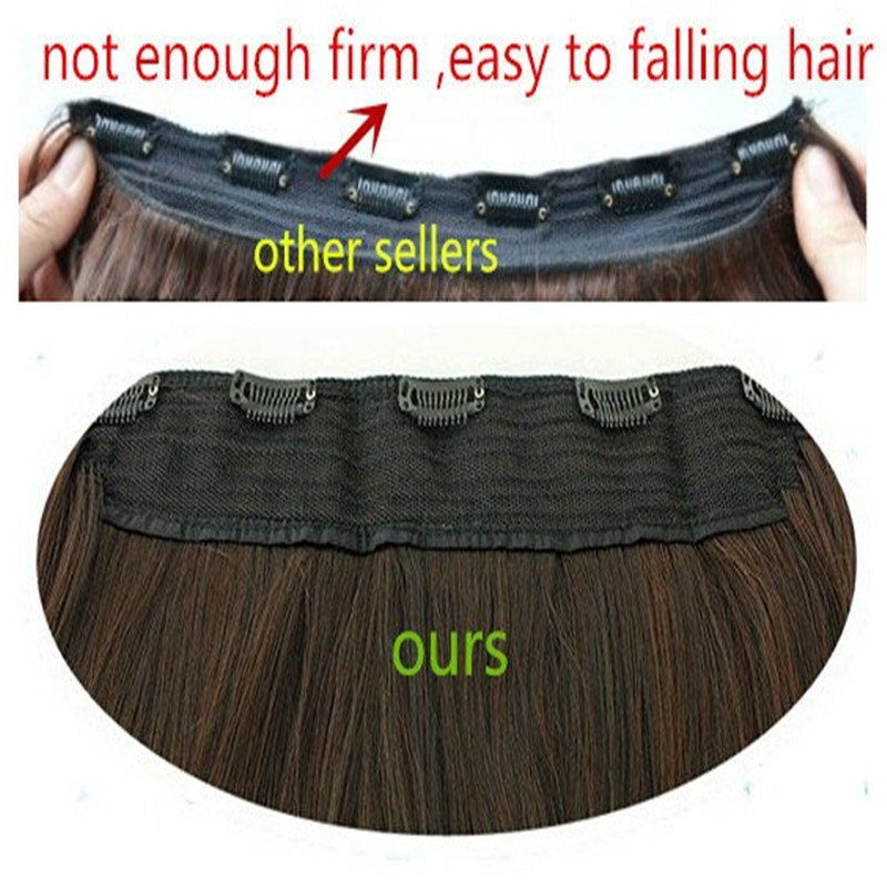 """Image 5 - SARLA 24"""" 60cm 200Pcs/lot Long Straight Clip In Hair Extensions For Women Resistant High Temperature Synthetic Hairpieces 666-in Synthetic Clip-in One Piece from Hair Extensions & Wigs"""