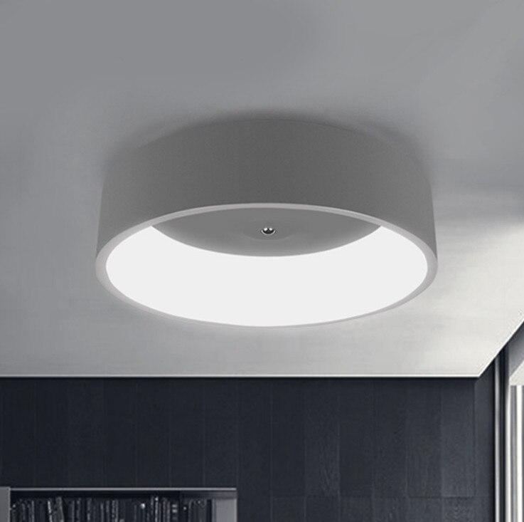 Простые современные круглый светодиодный потолочный светильник белый/серый круг потолочный светильник украшения светильники исследовани