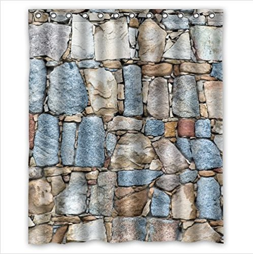 Classic Brick Wall Patternstone And Rock Wall Art Polyester Fabric