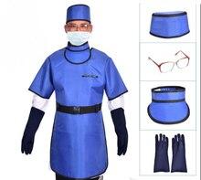 0,5 mmpb рентгеновский защитный набор одежды с шляпой, перчатками, воротниками, очками, y-лучевым защитным фартуком, больницей, клинике, бизнесом