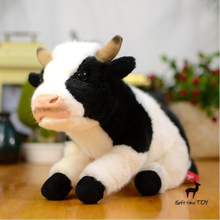 New  Cute  Plush Toy Cow Doll Simulation Game More Cattle Stuffed Animal Christmas  Birthday Gift For Girls high quality new winter jacket parka women winter coat women warm outwear thick cotton padded short jackets coat plus size 5l41