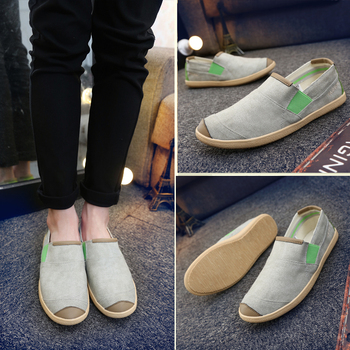 Men Loafers Spring Summer Light Mixed Colors Canvas Youth Shoes Men Breathable Fashion Flat Footwear Walking Shoes Boat Shoes 1