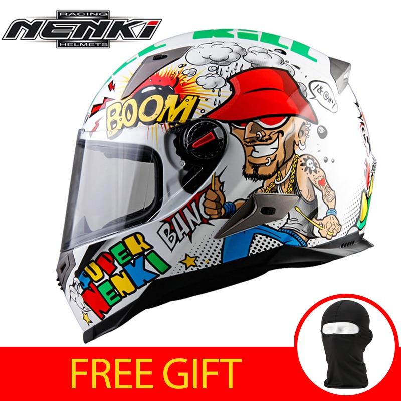 NENKI Motorcycle Helmet Men Women Motorbike Full Face Moto Helmet Racing Street Moto Casco Touring Chopper Scooter  Helmet ECE