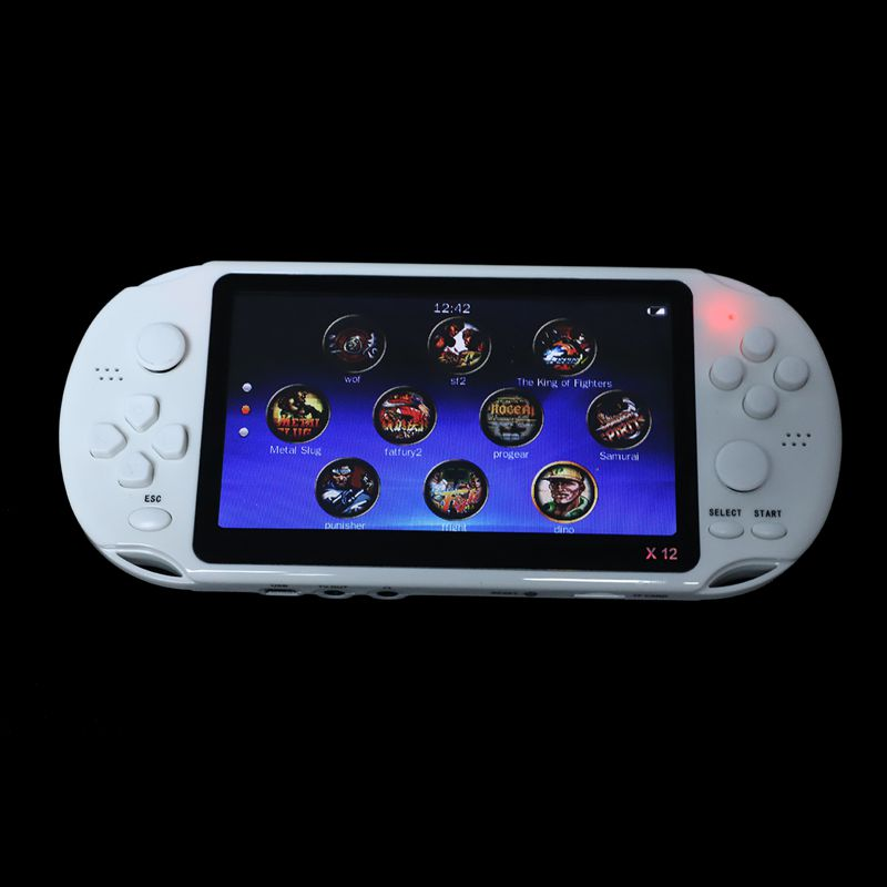Image 3 - Powkiddy 5.1 Inch 8G Retro Game Console HD Screen Dual Joystick Handheld Game Player Family TV Retro Video Consoles Built In 1-in Handheld Game Players from Consumer Electronics