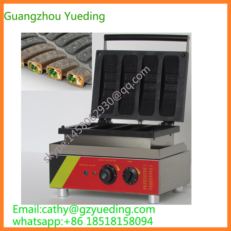 Long bar waffle maker machine/waffle making machineLong bar waffle maker machine/waffle making machine