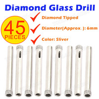 45x 6mm Diamond Tipped Hole Saw Ceramic Glass Tile Granite Marble Core Drill Bit