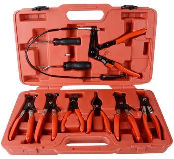 9PCs Car Hose Clamp Clip Plier Flat Angled Swivel Jaw Set