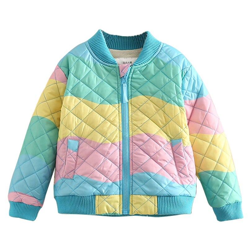 Хлопковая стеганая куртка для маленьких девочек на весну, осень и зиму, детская одежда, детская утепленная верхняя одежда из бархата
