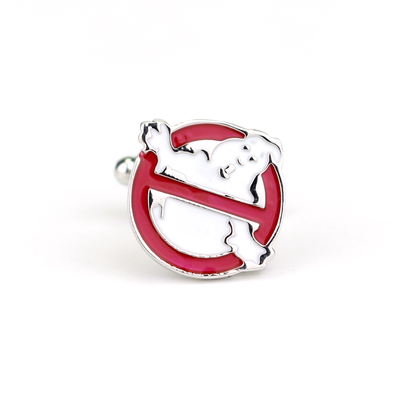 Movie Ghostbusters Logo cufflinks High quality alloy jewelry