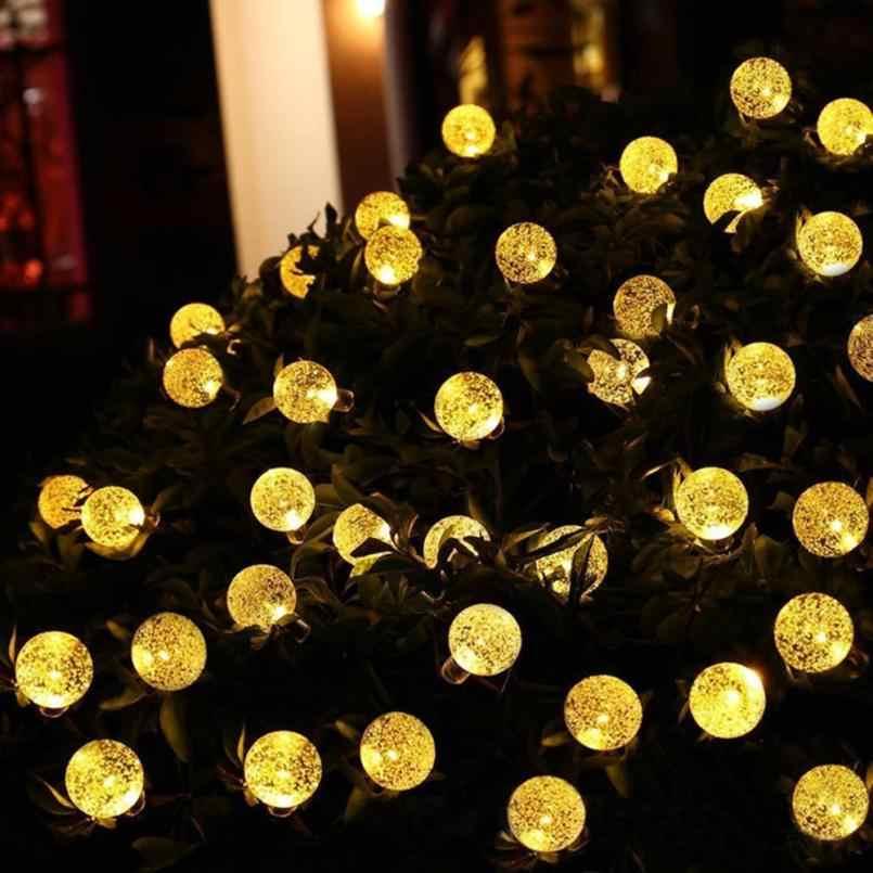 Солнечные 30 светодиодный свет шнура 6 м садовая дорожка двор Декор праздлик на улице лампа 30 светодиодный струнный свет дропшиппинг 18jul2