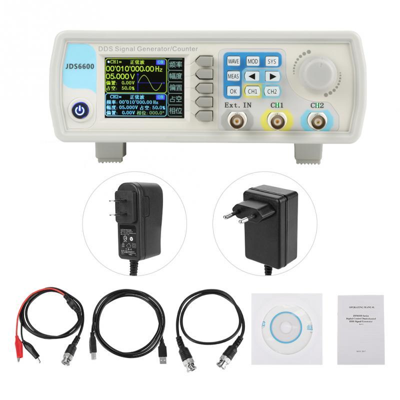 JDS6600 DDS générateur de Signal compteur contrôle numérique AC100-240V de fréquence sinusoïdale en option