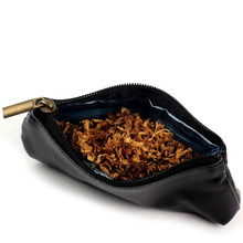 FIREDOG Durable Zipper Cigarette Portable Smoking Pipe Tobacco Pouch Case Bag Holder Brown/Black CL45 Free Shipping