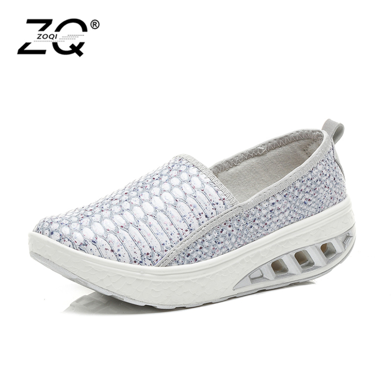 2018 Spring Women Platform Sneakers Slip-On Ladies Shoes Footwear Women Casual Sneakers Women Flats Moccasins Creepers comfy fitness ladies beautiful flats shoes spring autumn women size 34 korean china black slip on sneakers casual footwear