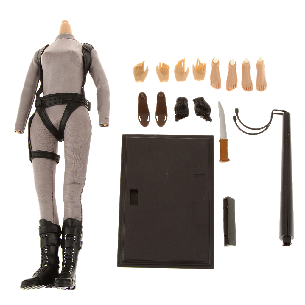 1/6 Scale Female Body Figure Clothing Set With Extra Hands Feet Outfit 2 Stand for 12 Action Figure Clothing Suit Accessory 1 6 scale figure clothing accessories female combat suit uniforms for 12 action figure doll not included body head and weapon