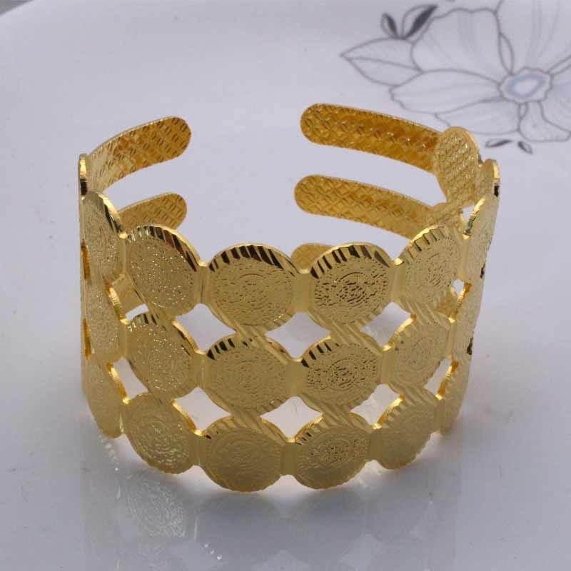 zkd  copper muslim Arab Ancient Coin bracelet Turkey Coins  (Can Open) bracelet