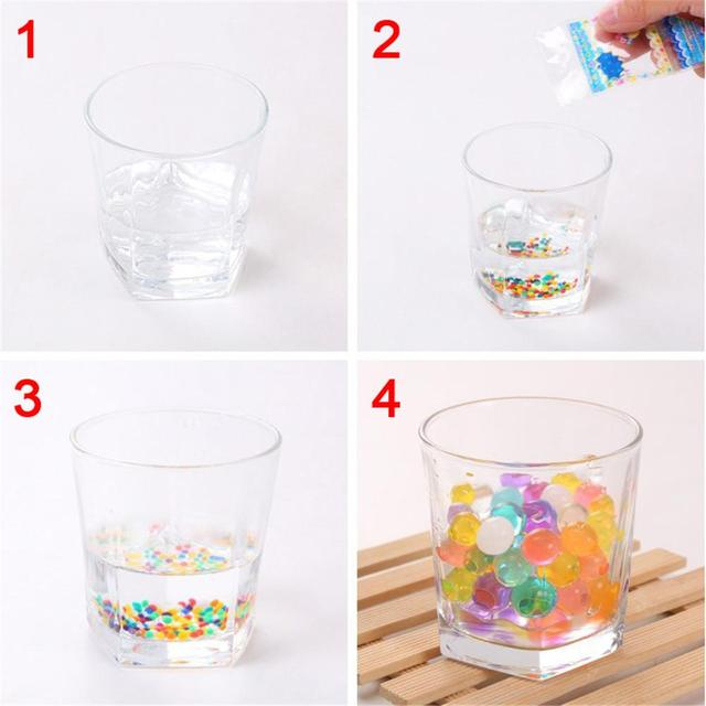 3000pcs/pack Colored Soft Crystal Water Paintball Bullets Water Beads Grow Balls Balcony Table Clear Vase Decoration