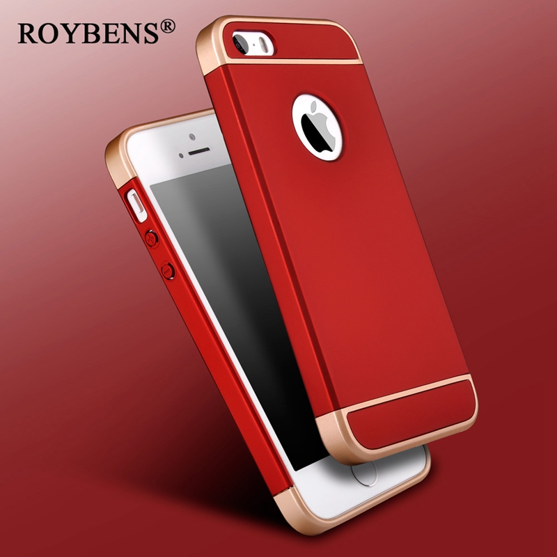 097c383b133 5S SE Luxury Removable 3 in 1 Hard PC Case For iPhone 5 5S SE 6 6S ...