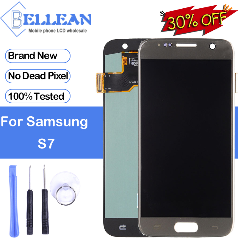 Dinamico Promotion G930 Lcd For <font><b>Samsung</b></font> <font><b>Galaxy</b></font> <font><b>S7</b></font> <font><b>Display</b></font> Touch Screen Digitizer Assembly G930F <font><b>Display</b></font> Free Shipping With Tools image