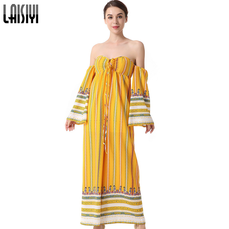LAISIYI Bobo Print Long Romper Women Jumpsuit Sexy Strapless Backless Loose Overalls 2018 Summer Beach Party Playsuit ASJU50149