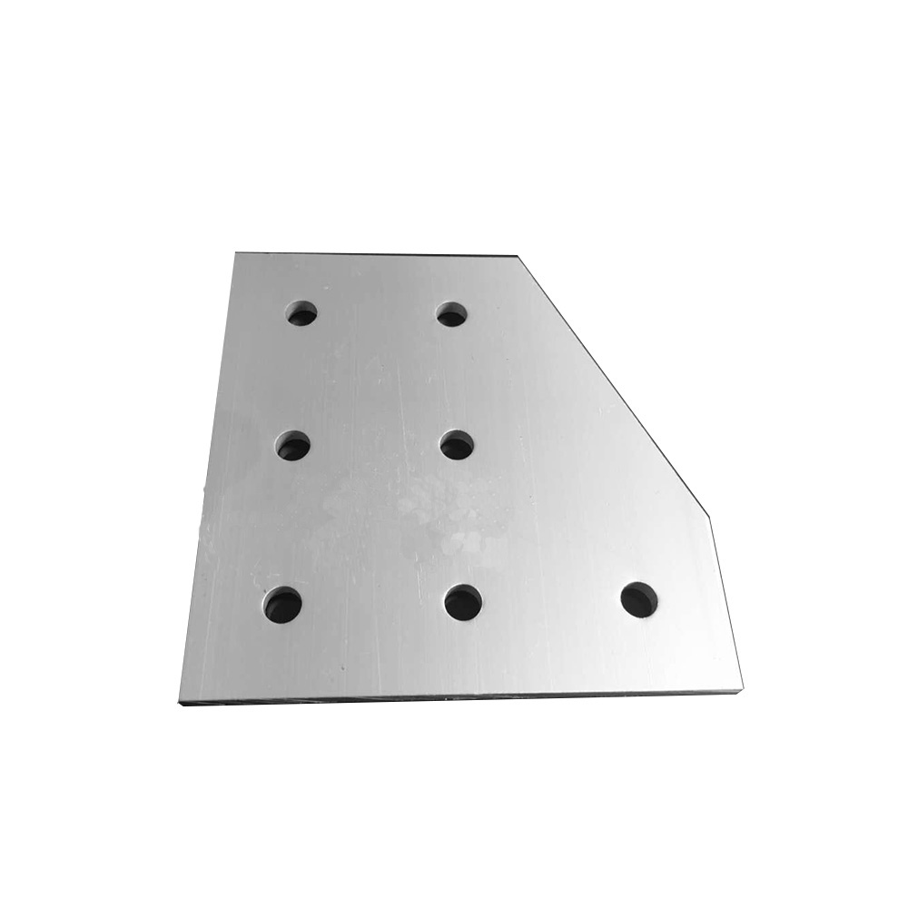 1pcs 4080 40x80 7 hole L type 90 Degree Joint Board Plate Corner Angle Bracket Connection Joint for Aluminum Profile цена