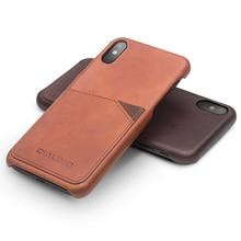 ФОТО qialino luxury genuine leather bag case for iphone x handmade fashion card slot ultrathin phone cover for iphone x 5.8 inch