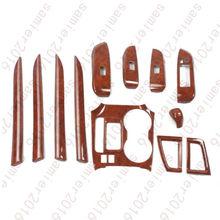 12x Wood Grain Inner Trim Kit Full Set Cover For Toyota Kluger Highlander 14 15