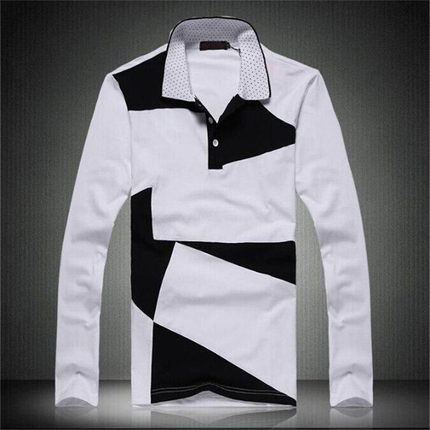 Men Long Sleeve Polo Shirts Plus Size M 6xl Spring Autumn Casual