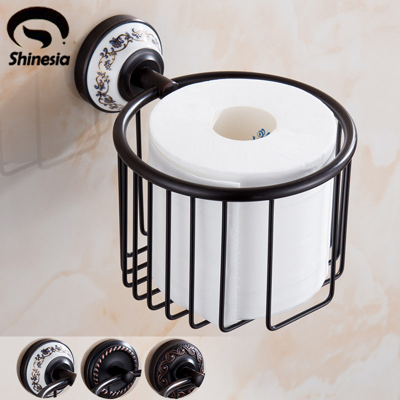 Oil Rubbed Bronze Bathroom Toilet Paper Holder Roll Towel Bar Holder Wall Mounted luxury artistic towel bar single towel holder wall mounted bathroom towel rail rod oil rubbed bronze finish