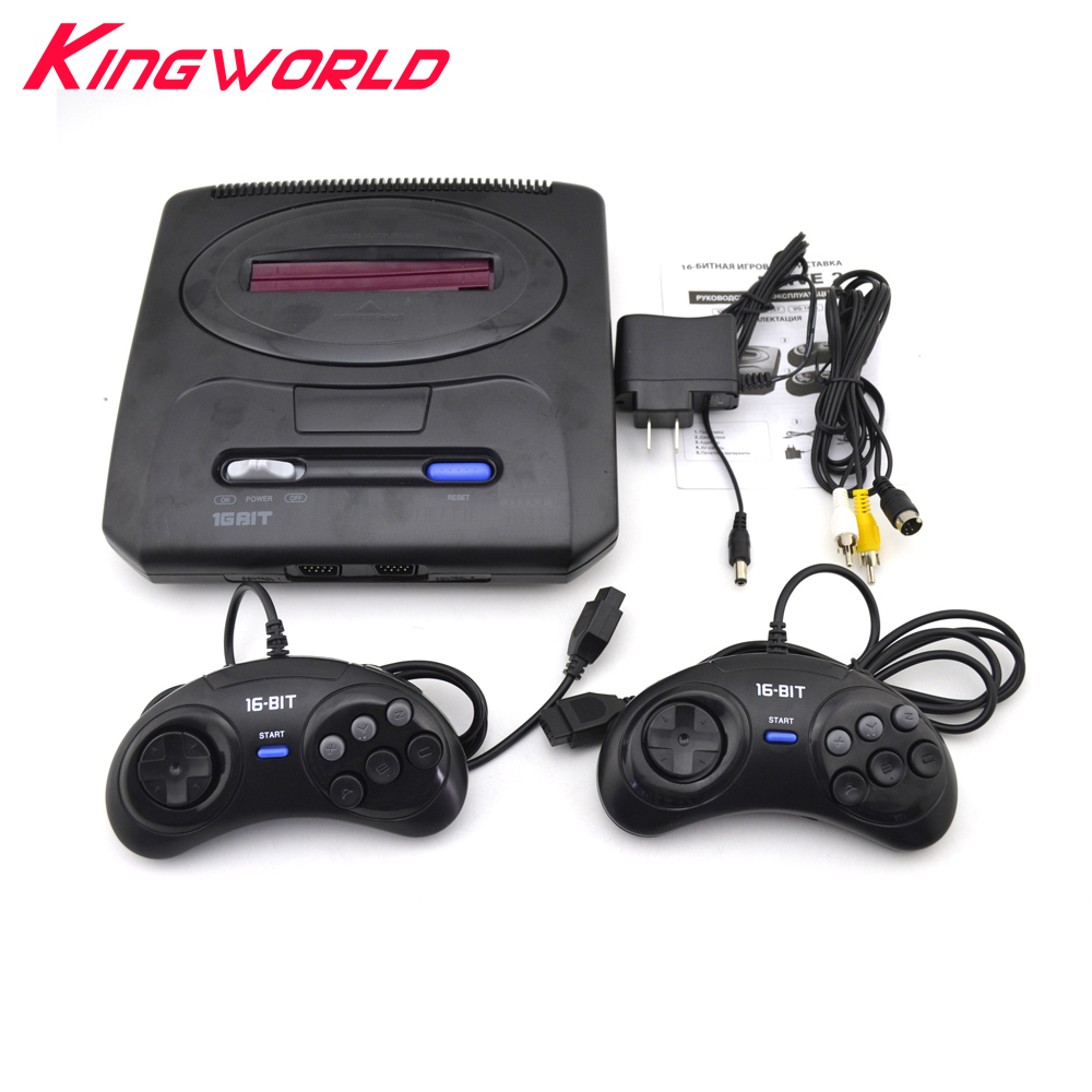 High quality Game Console For SEGA MD 2 Video 16 bit with US and Japan Mode Switch with 2 controllers for MD2 EU or US Plug us plug hdmi video game player 16 bit md nostalgia gaming console with double 2 4g wireless controllers retro style design