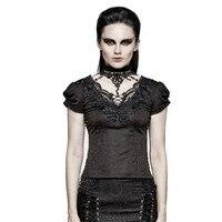 Gothic Swallow Tail Tee Shirt Mùa Hè Jacquard Ngắn Tay Áo Ren T-Shirt Chặt Chẽ Backless Phụ Nữ T Áo Sơ Mi