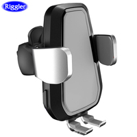 Fast Charge Auto Clamp Car Holder Air Vent Windshield Sucker Mount for iphone XS XR X 8 8 Plus Samsung S9 S8 360 Degree rotation