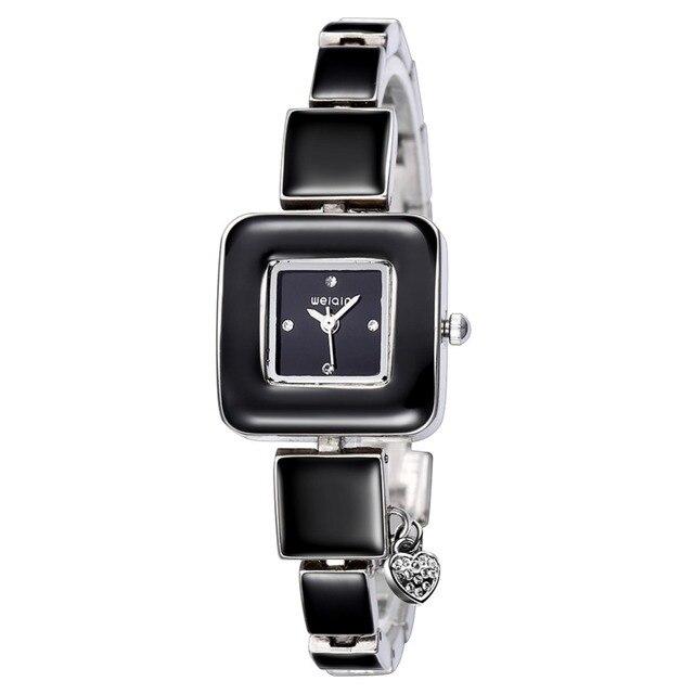 b1ebc0f98540 Weiqin marca de lujo 2017 nuevas mujeres relojes de cuarzo-reloj reloj damas  de acero