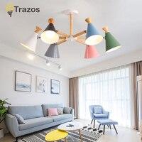 2019 Hardware Modern Led Chandelier Lights For Living Room Bedroom Square Indoor Ceiling Chandelier Lamp Fixtures