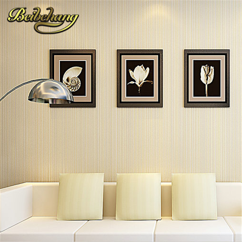 beibehang Top Quality Fabric Mural wallpaper modern striped flock wall paper papel de parede tapete bedroom white,beige,coffee white mural wallpaper modern stripe flock embossed non woven wall paper papel de parede tapete bedroom decoration 53x1000cm