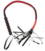 Delicate Black&Red Pu Leather Fetish Slave Whip Handle Lash Strap Sexy Toys In Adult Games