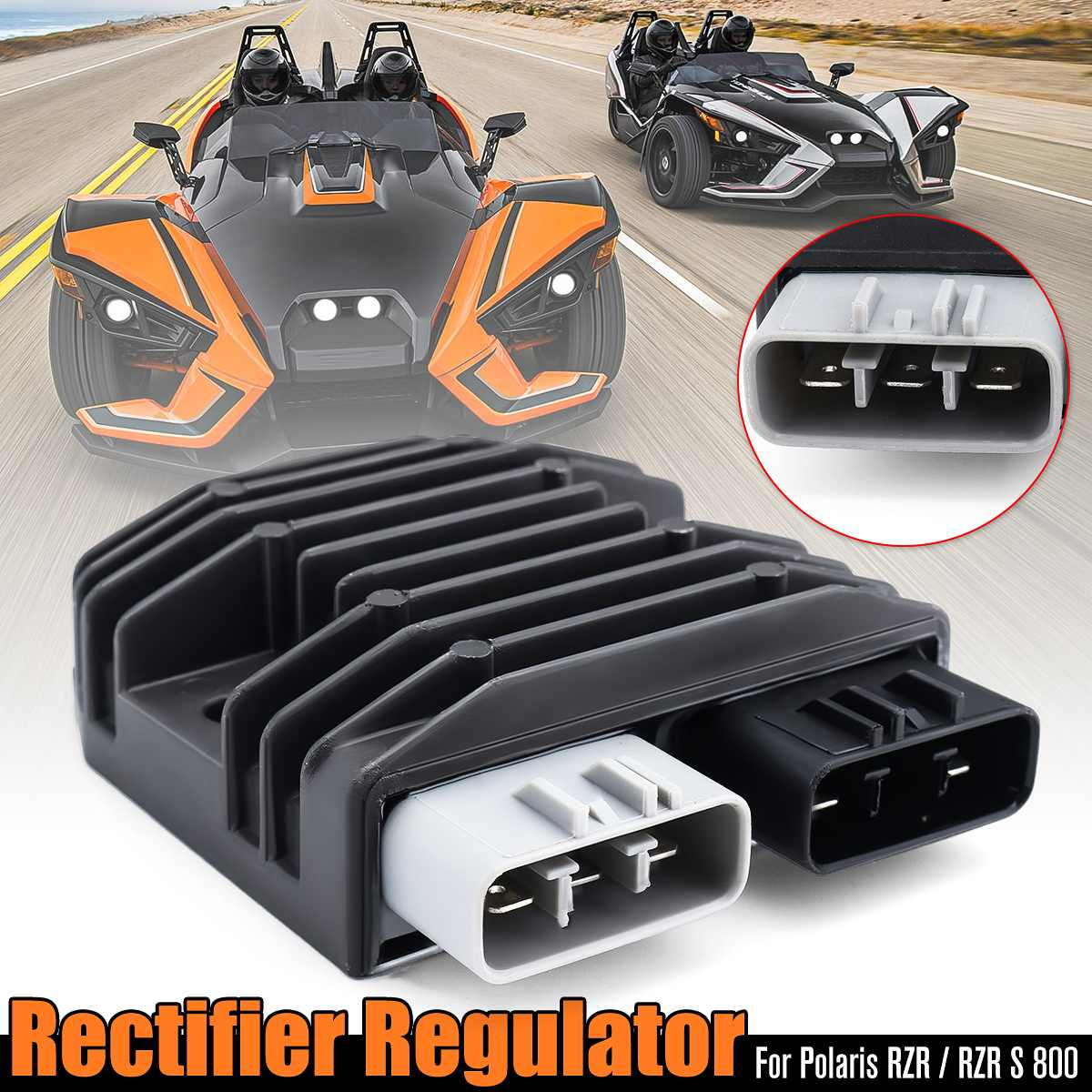 Motorcycle Parts Voltage Regulator Rectifier For 760cc For Polaris 2011 2012 2013 2014 RZR/RZR S <font><b>800</b></font> <font><b>UTV</b></font> ATV Motorcycle Ignition image
