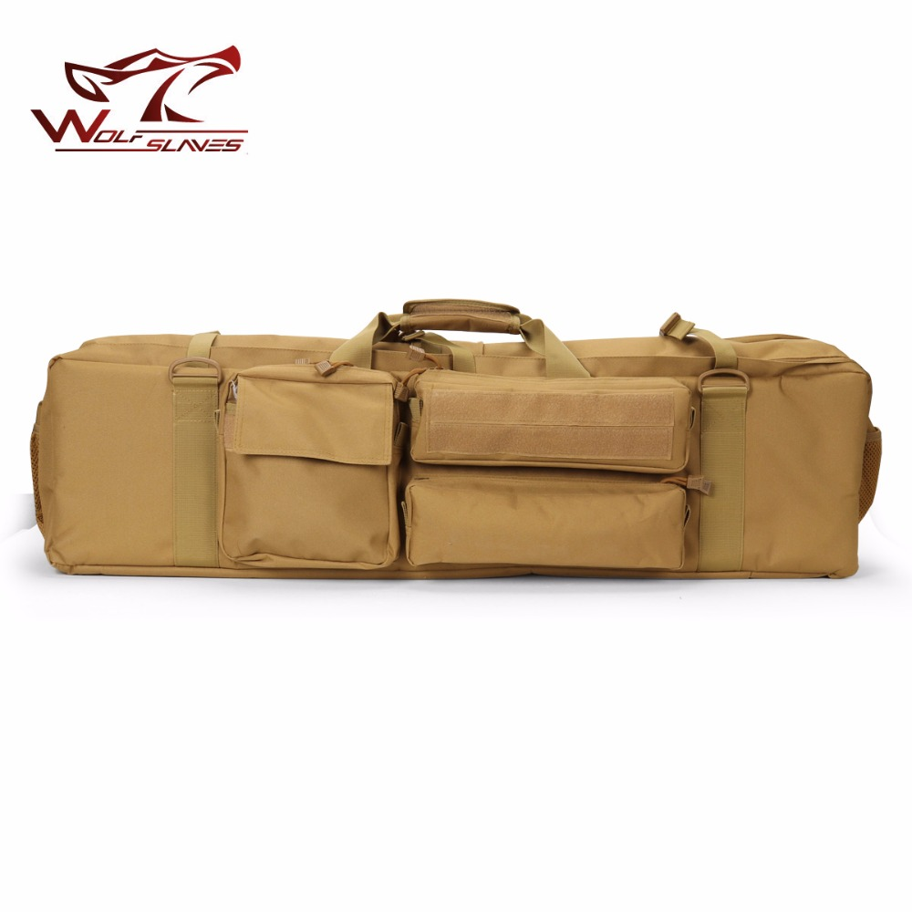 Outdoor Sport 1m Tactical Airsoft Carrying Dual Rifle Case M249 Gun Bag Military Hunting Shoulder Pouch Bag Gun Protection Case my days reed camouflage car gun case bag outdoor suv seat back gun rack multi pockets truck gun sling hunting car carrier