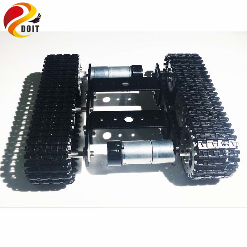 DOIT Mini T100 Crawler Tank Car Chassis Tracked Smart Car Robot Competition DIY Robot Toy diy tracked robot