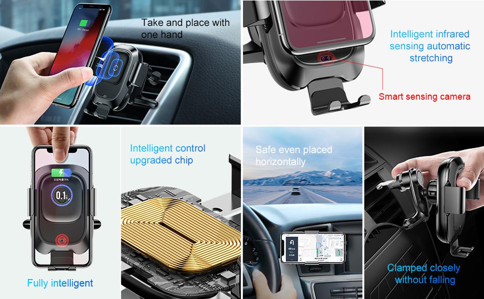 HTB1mjaBXcTxK1Rjy0Fgq6yovpXac - Baseus Qi Car Wireless Charger For iPhone Xs Max XR X Samsung Intelligent Infrared Sensor Fast Wirless Charging Car Phone Holder