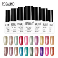 ROSALIND Gel 1S 7ML Platinum Nail Gel Shining UV LED Gel varnish Long lasting Resin Colorful Need TOP&BASE Coat Gel Lacquer
