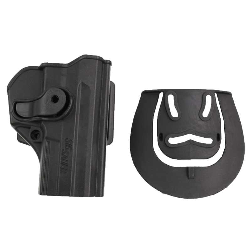 Tactical Airsoft P1290 Polymer Retention Roto Waist Holster For Sig Sauer Pro SP2022/SP2009/P220/P09