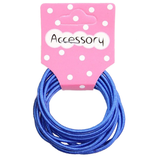 Best Sale New 100pcs Baby Girl Kids Tiny Hair Accessary Hair Bands Elastic Ties Blue