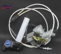 PZ30 30mm Carburetor Accelerating Pump Racing 200cc 250cc For Keihin ABM IRBIS TTR 250 With Dual Throttle Cable Handle