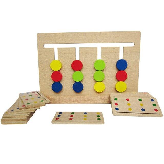 Juguete del bebé de Cuatro Colores Juego de Color A Juego para La Educación Preescolar Montessori Preescolar Juguetes de Aprendizaje de Formación