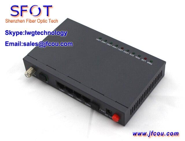 Сетевые маршрутизаторы телекоммуникационного оборудования ону EPON GEPON ону онт, Sfot-4ge + ктв EPON ONU