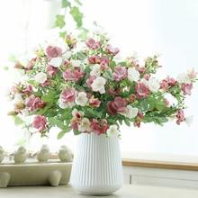Искусственные розы Букет дома свадебный зал шёлковые цветы для украшения Высокое качество Цветочная композиция комнатные растения
