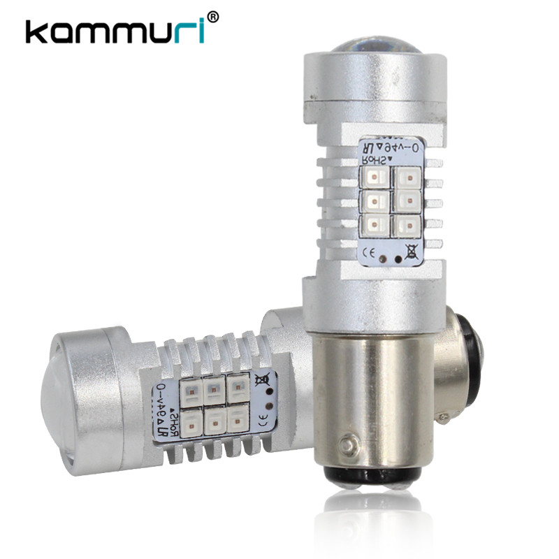 KAMMURI Brilliant Rot 1157 BAY15D BAZ15d 566 P21/4 Watt Led Lampen Für Auto  Bremse Backup Schwanz Stopp Lights Blinker