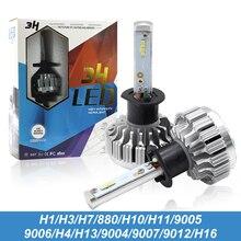 Super Bright 3H Car LED Headlights H1 H4 H3 H7 H8 H11 H16 9005 9006 9007