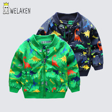 weLaken Boys Coats 2019 Children Cute Dinosaur Coat Autumn K